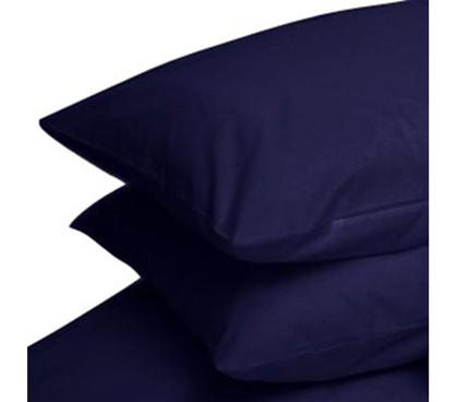 standard pillowcases 2 pack navy blue