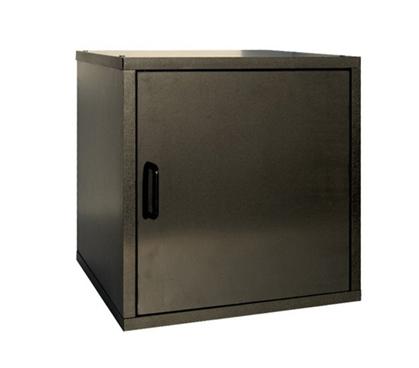 Single Door Storage Cube Black Dorm Room Necessity