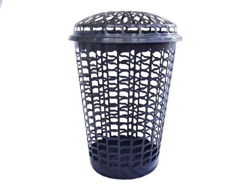Tall Round Laundry Hamper  Black College Wash Clothes