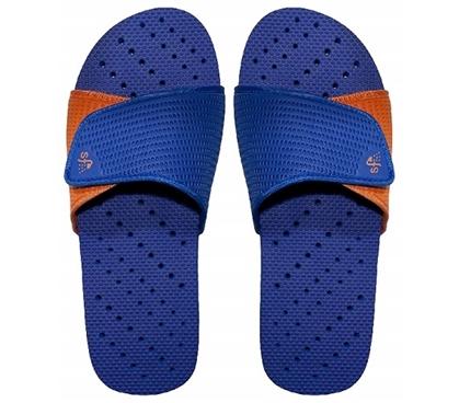 Showaflops  Mens Antimicrobial Shower Sandal  Blue