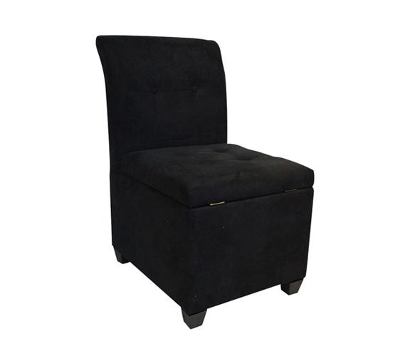 The Original Ottoman Chair 2 in 1 Storage Seat  Black
