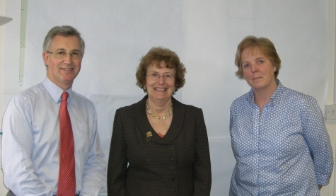 Vivian Dunn, Annette Brooke MP and Camilla Trimble