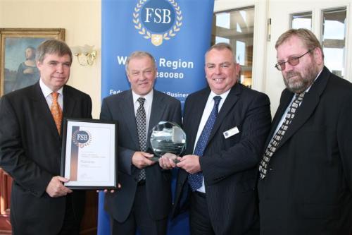 L – R: Kevin Poulton (EDDC), Cllr Alex Clarke (EDDC), Ken Moon (FSB), Tim Colman (FSB)