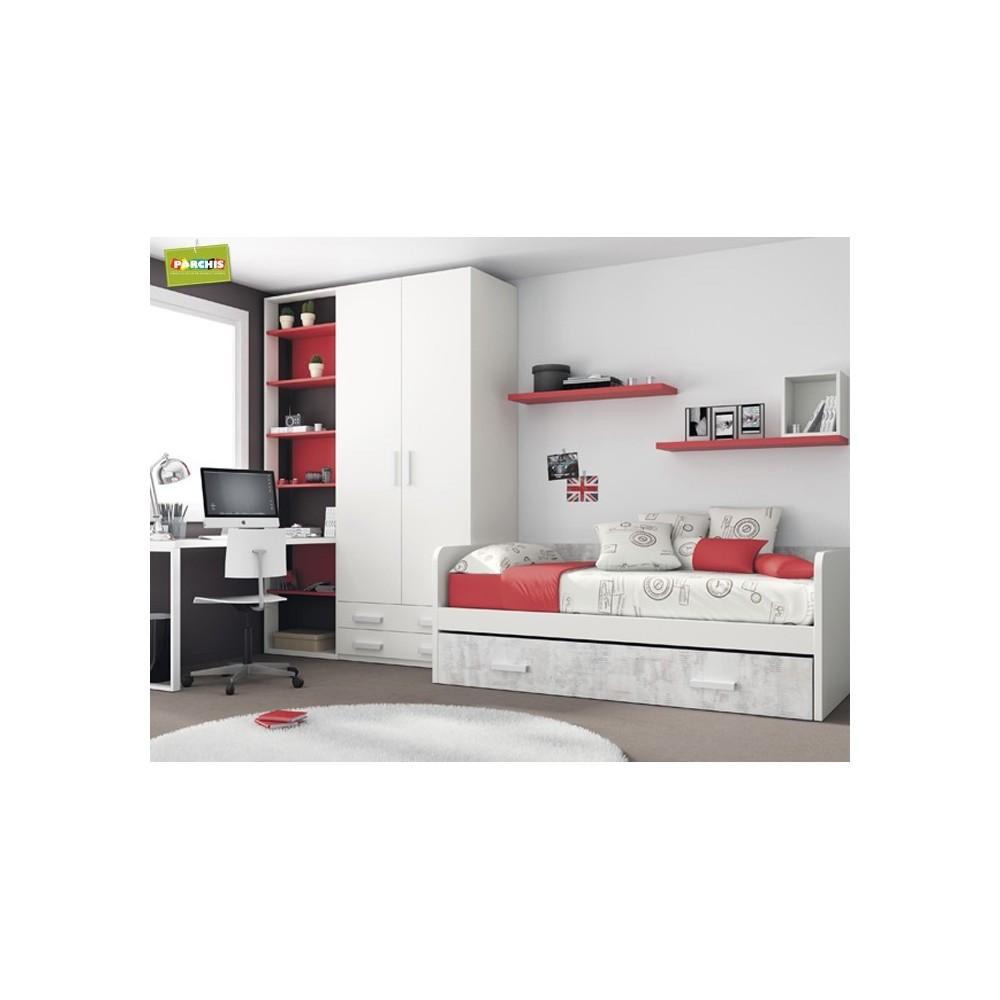 Dormitorio Cama Nido Rojo  Dormitorios con Cama Nido