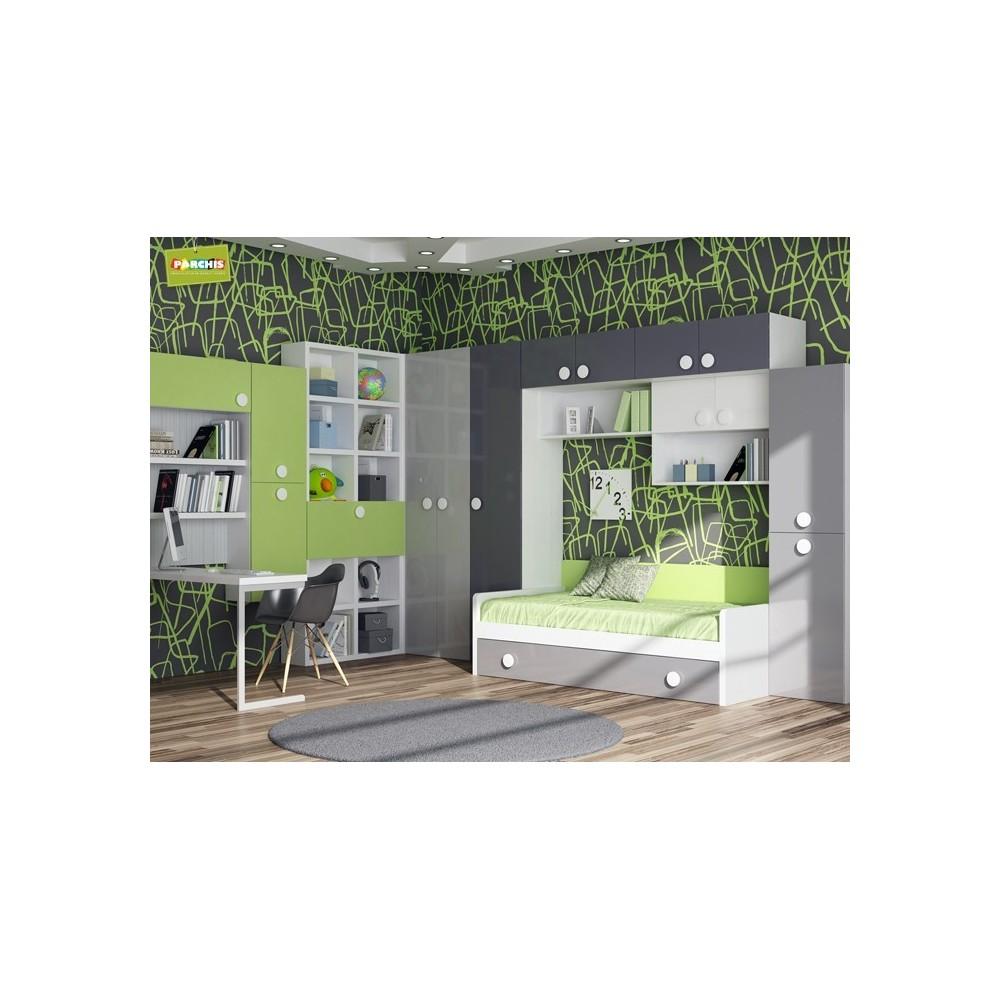 Dormitorio Cama Nido Verde  Camas Nido Baratas