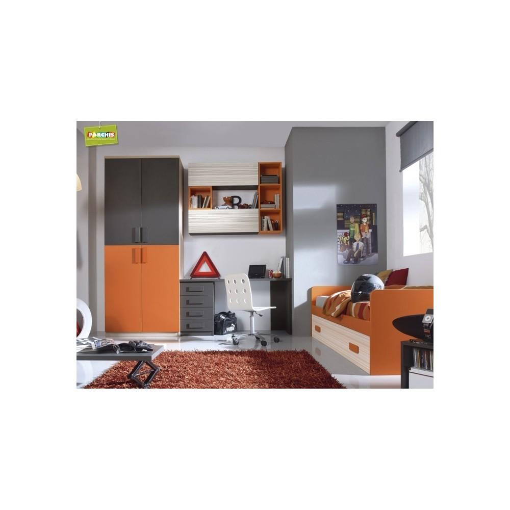 Dormitorio Cama Nido Naranja  Dormitorios Juveniles