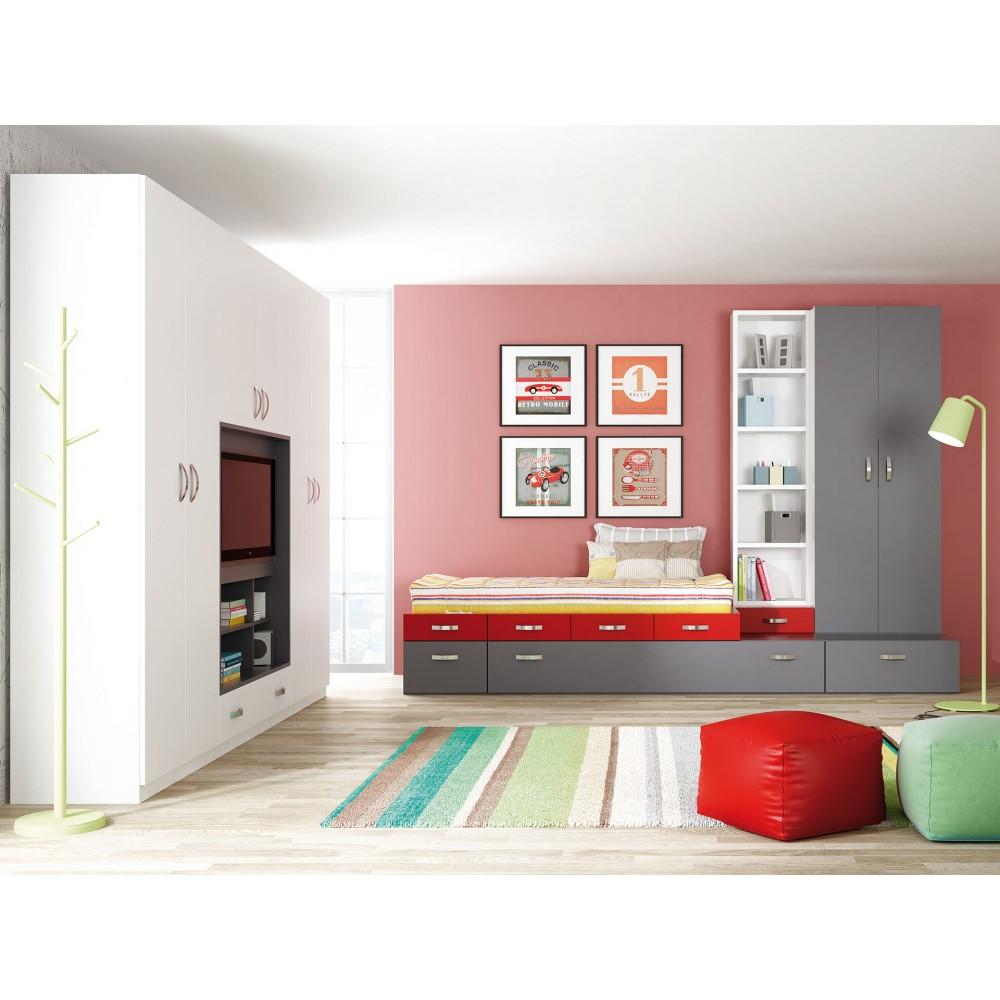 Dormitorio con cama nido Bilbao