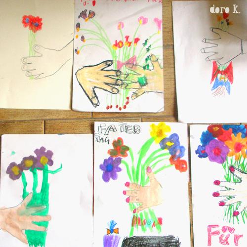 Malen mit Kindern Blumenstrauß
