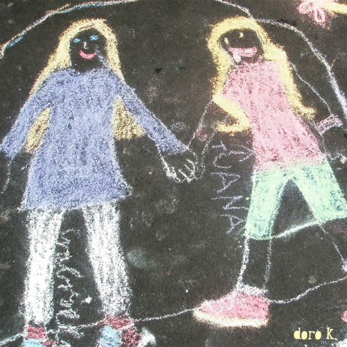 chalk painting with kids;