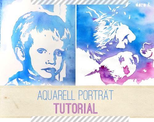 so kannst auch du ein aquarell porträt malen - doro kaiser