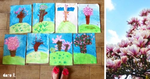 Malen mit Kindern - Frühlingsbaum