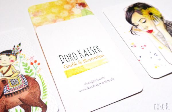 Meine Arbeit Als Illustratorin Meine Neuen Visitenkarten