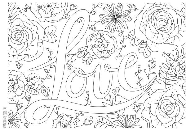 Gratis Ausmalbild Im Februar Coloring Page Liebe Zum Valentinstag
