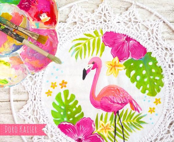 Traumfänger Flamingo