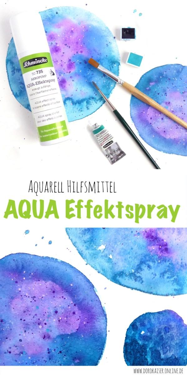 Produkt Review: Schmincke AQUA Effekspray - Mein liebstes Hilfsmittel für das Aquarellmalen | www.dorokaiser.online.de