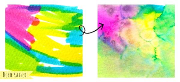 Aquarelleffekte mit Tombows / Koi Stiften | www.dorokaiser.online.de