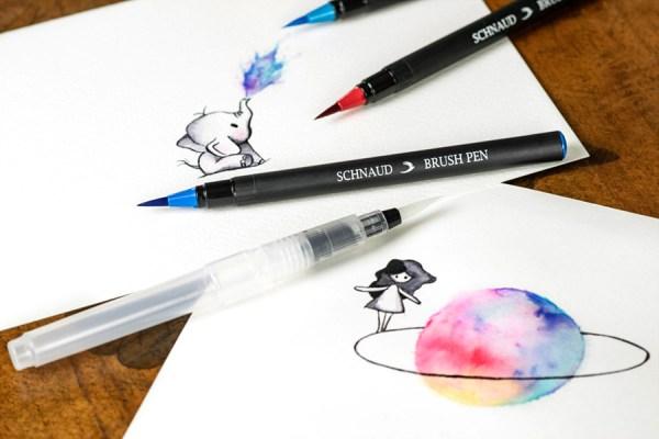 Schnaud Brush Pen Watercolor Effekt