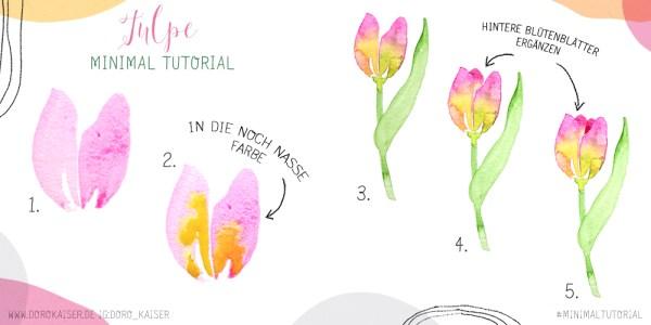 Malanleitung Aquarell Tulpe