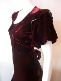 30s dress vintage clothing bias cut gown