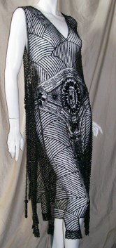 Vintage DRESS Flapper Beaded EGYPTIAN Tabard