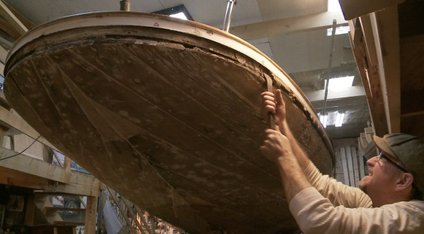 Removing rotten rubrail WS