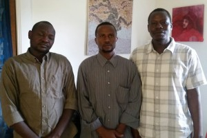 Left to right: Abdulatif Issac (Secretary), Abakar Youssif (President) and Mokhtar Abdallah (Assistant Secretary) at DOHS headquarters.