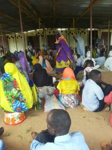 Camp meeting at Jabal Refugee Camp in eastern Chad, 4