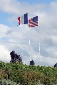 Het monument voor de Amerikaanse marine bij Utah Beach in Normandië.