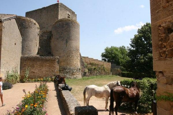 Kasteel van Semur-en-Brionnais in Bourgondië, Frankrijk