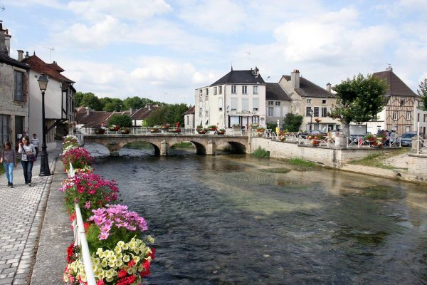 Dorp Essoyes in de Champagne waar Renoir woonde en werkte in Frankrijk