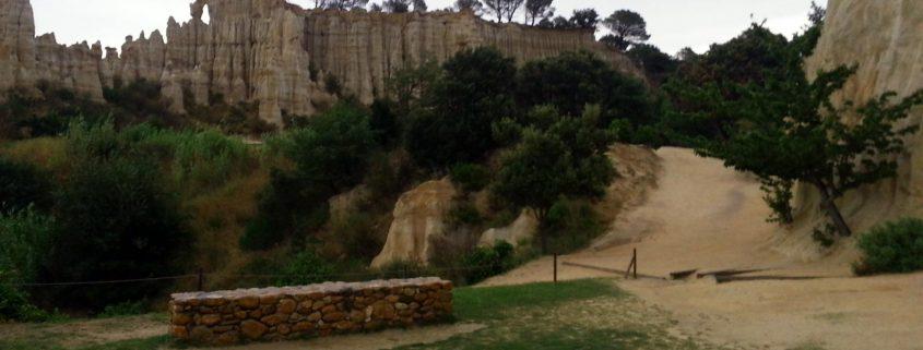Orgues de l'Ille sur Tet rotsen Languedoc-Roussillon Frankrijk