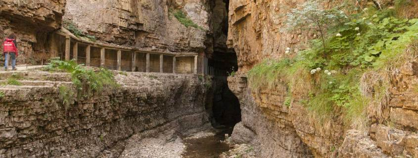 Ingang van de grot Abîme-de-Bramabiau