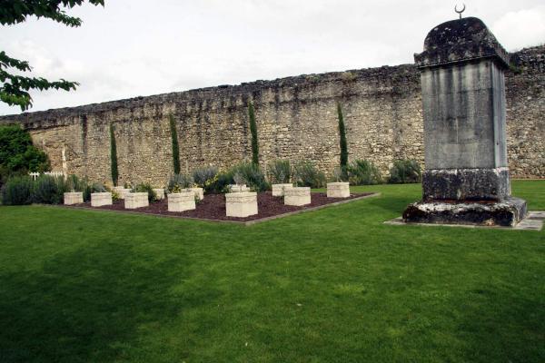 De islamitische begraafplaats in de tuin van het kasteel van Amboise