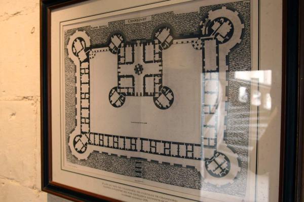 Plattegrond van het kasteel van Chambord