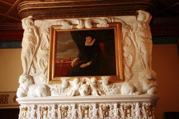 Schilderij van Caterina dei Medici in het kasteel van Chenonceau