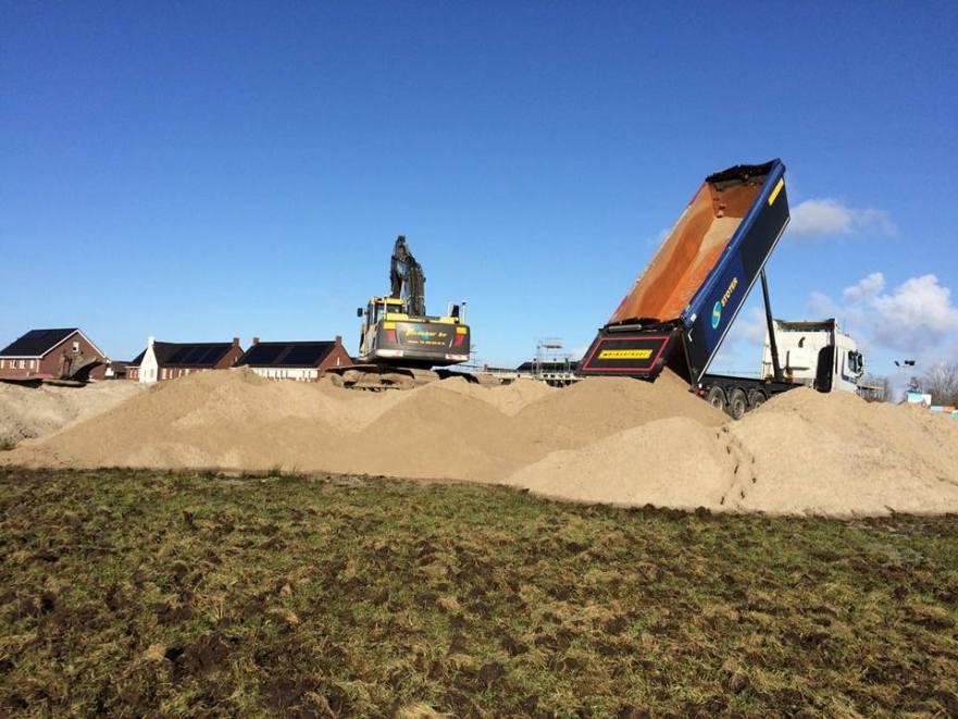 bouwgrond voorbelasten met zand