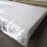 Housse De Protection Matelas King Premium pour matelas 200cm de large / 30cm de haut avec fermeture adhésive refermable – ULTRA solide 120µ, EXTRA long 260cm