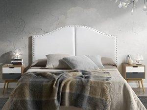 Tête de lit Lyon avec des punaises 160X95 Blanc
