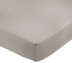 AmazonBasics Drap-housse en polycoton 200fils Gris 160 x 200 x 30 cm