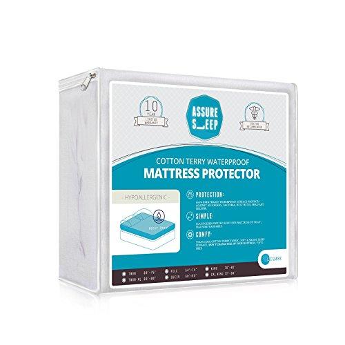 assurer une veille en coton éponge–étanche hypoallergénique 100% respirant, alèse–10ans de garantie, Coton, blanc, Crib