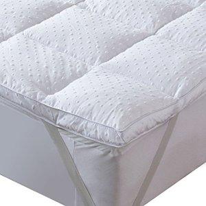 Bedecor Matelas souple, Matelas de Polyester en Microfibre, Antidérapant, Anti-acarien, convient également aux Matelas à Mémoire et lits d'eau – 140×190/200 cm