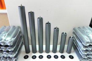 Bonitex Lot de 4pieds cylindriques pour sommier 35cm de hauteur