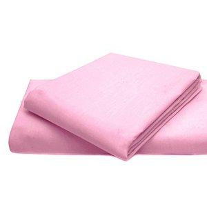 Drap-housse Dulce Lino facile d'entretien et durable en polycoton., Coton/polyester, rose, Pillow Pair