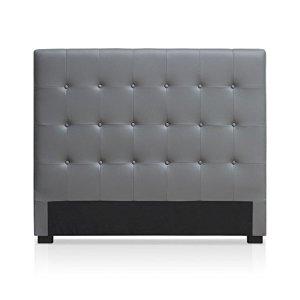 Intense Déco – Tête de lit capitonnée Premium 140cm Gris