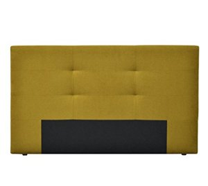 Beds&Sofa Tête de Lit HOUSTON, Tissu, Jaune, 165 x 9 x 99 cm