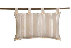Sady's Trading Majestic Tête de Lit DEHOUSSABLE Coton 45 x 70 cm Naturel Petite rayure