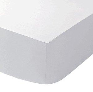 Dulce Lino – Drap housse polycoton percale extra profond, 40cm, repassage facile, Coton/polyester, blanc, Pillow Pair