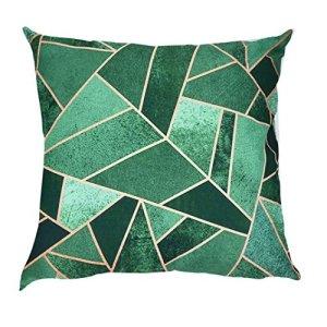 Home Decor Motif géométrique Imprimé Housse de coussin Polyester Couvre-lit Taie d'oreiller Voiture Canapé couvertures d'oreiller Tour de taille (45x 45cm), Noir, 1