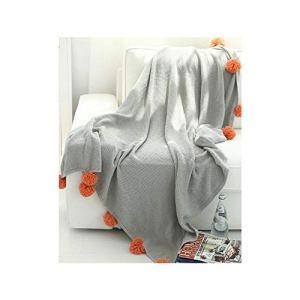 Blanket Couverture de Printemps et d'automne Contraste Couleur Couverture de Balle Mignonne Couverture Photo Couple Couverture (Color : Light Gray, Taille : 51.18 * 62.99)