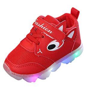 Heecaka Baby Boys Girls Mesh LED Light Luminous Shoes Soft Outdoor Sport Shoes